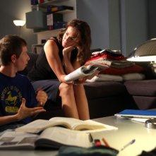 Claudia Gerini in una scena del film Il mio domani insieme al giovane Enrico Bosco