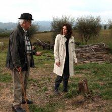 Il mio domani: Raffaele Pisu e Claudia Gerini in campagna in una scena del film