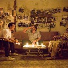 The Rum Diary: Johnny Depp con Michael Rispoli e Giovanni Ribisi