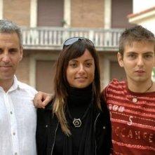 Damiano Russo durante l'incontro con la stampa per Nel mio amore della Tamaro assieme a Vincent Riotta e Alessia Fugardi