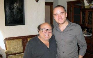 Francesco Panzieri insieme a Danny DeVito a Loas Angeles