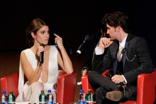 Nikki Reed e Jackson Rathbone durante l'incontro romano col pubblico del Festival di Roma per presentare le clip esclusive di The Twilight Saga: Breaking Dawn - Parte 1
