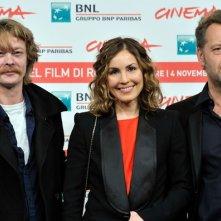 Noomi Rapace, il regista Pal Sletaune e l'attore Kristoffer Joner presentano Babycall al Festival Internazionale del Film di Roma