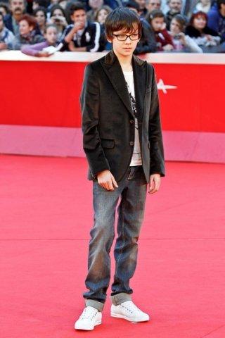 Asa Butterfield, protagonista di Hugo Cabret 3D, sul red carpet del Festival di Roma