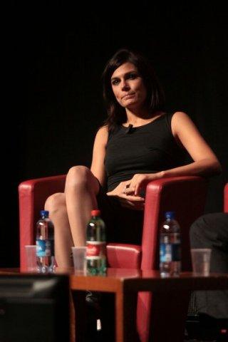 Valeria Solarino in un momento del duetto al Festival di Roma