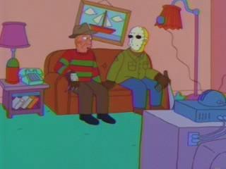 Freddy e Jason in La paura fa novanta IX ( Stagione 10 - I Simpson )