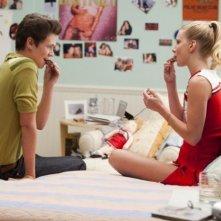 Glee: Damian McGinty ed Heather Morris in una scena dell'episodio Pot O' Gold