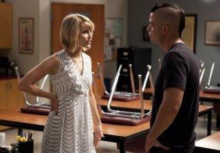 Glee: Dianna Agron e Mark Salling in una scena dell'episodio Pot O' Gold