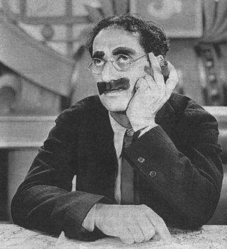 Groucho Marx, una foto dell'attore