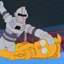 I Simpson: una sequenza dell'episodio Sindacato con la mafia della stagione 10