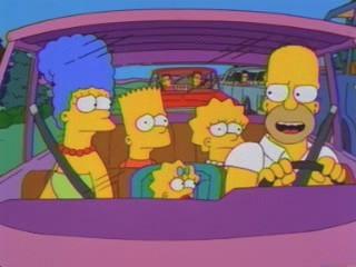 La famiglia Simpson al completo nell'episodio Dalle stalle alle stelle della stagione 10