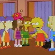 Una scena di gruppo di Tanto va Homer al lardo che... della stagione 10 de I Simpson