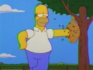 Una scena di Homer figlio dei fiori ,episodio della stagione 10 de I Simpson