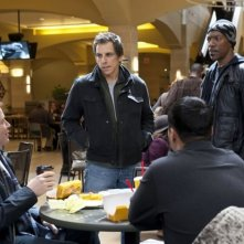 Ben Stiller, Eddie Murphy, Matthew Broderick a colazione in una scena di Tower Heist: Colpo ad alto livello