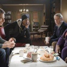 Ben Stiller, Eddie Murphy, Matthew Broderick e Gabourey Sidibe in una scena di Tower Heist: Colpo ad alto livello