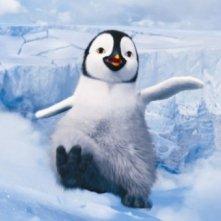 Happy Feet 2 in 3D, il piccolo Erik prova a ballare tra la neve in una scena del film