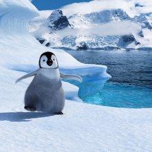 Happy Feet 2 in 3D, il pinguino protagonista in una scena del film d'animazione diretto da George Miller