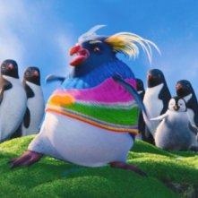Happy Feet 2, una coloratissima scena del film d'animazione in 3D diretto da George Miller