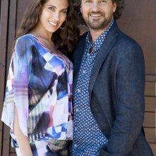 Leonardo Pieraccioni con Ariadna Romero sul set di Finalmente la felicità