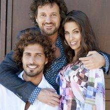 Leonardo Pieraccioni con Thyago Alves e Ariadna Romero sul set di Finalmente la felicità