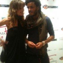 Mohamed Zouaoui e Elisabetta Pellini al RomaFictionFest 2011, per presentare Un amore e una vendetta