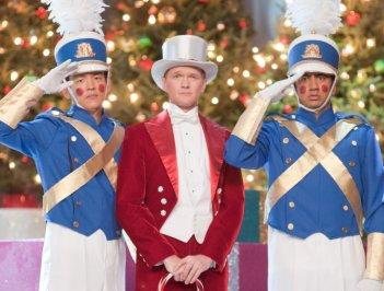 Neil Patrick Harris con John Cho e Kal Penn in una scena di A Very Harold & Kumar Christmas