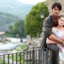 Vanessa Hessler e Giulio Berruti in una scena della miniserie Rai, La ragazza americana