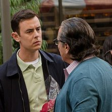Colin Hanks e Edward James Olmos in una scena dell'episodio Just let go