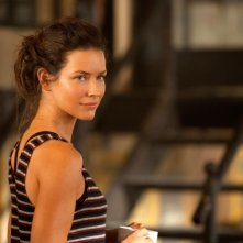 Evangeline Lilly in una scena dell'action Real Steel