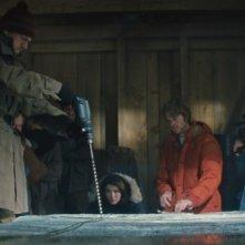 La Cosa: Eric Christian Olsen, Ulrich Thomsen e Mary Elizabeth Winstead in una scena del film
