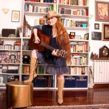Sara Pastore fotografata nella sua casa