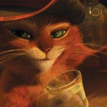 Il gatto con gli stivali: un bel primo piano del protagonista del film d'animazione targato Dreamworks