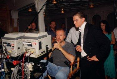 Titanic in 3D: James Cameron sul set di Titanic insieme a Leonardo DiCaprio