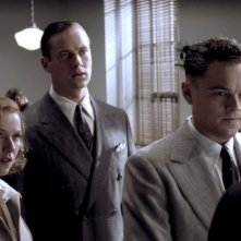 Leonardo DiCaprio e Naomi Watts in una scena di J.Edgar con Armie Hammer
