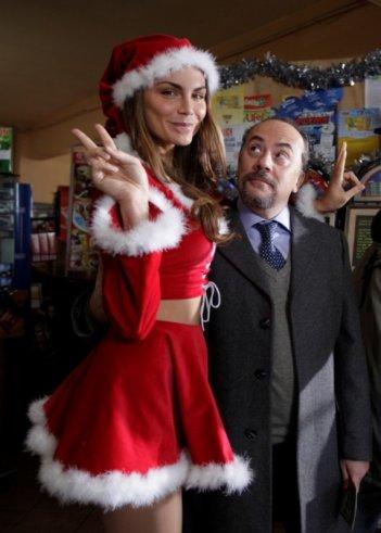 Nina Senicar e Maurizio Casagrande sul set del film Napoletans