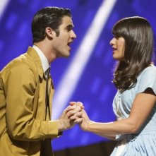 Glee: Lea Michele e Darren Criss in scena nell'episodio The First Time
