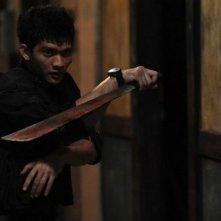 The Raid: Iko Uwais in una scena del film di Gareth Huw Evans