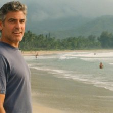 George Clooney in una scena del film The Descendants