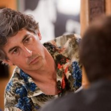 Il regista Alexander Payne sul set del film The Descendants