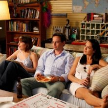 Lindsay Sloane, Nick Kroll e Michelle Borth in una scena di A good old fashioned orgy