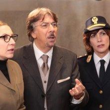 Marco Columbro, Iaia Forte e Maria Amelia Monti in una scena della fiction di Canale 5, Baciati dall'amore