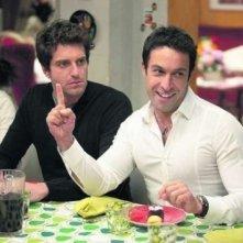 Pietro Taricone e Giampaolo Morelli, fratelli artistici nella fiction di Canale 5, Baciati dall'amore