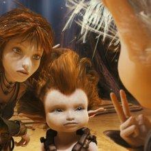 Arthur, Selenia e Betamache in un'immagine tratta da Arthur 3: La guerra dei due mondi