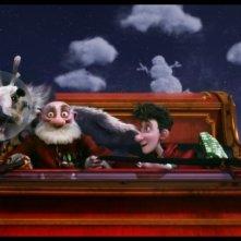 Arthur Christmas: Il figlio di Babbo Natale in 3D, Arthur a bordo della slitta di Santa Claus