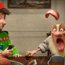 Arthur Christmas: Il figlio di Babbo Natale in 3D, il piccolo Arthur in una divertente scenetta col nonno