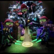 Arthur Christmas: Il figlio di Babbo Natale in 3D, tre folletti fosforescenti all'opera