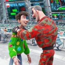 Una bizzarra scena di Arthur Christmas: Il figlio di Babbo Natale in 3D