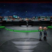 Una scena tratta dal film delle feste 2011 Arthur Christmas: Il figlio di Babbo Natale in 3D
