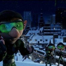 Una scena tratta dal film delle feste Arthur Christmas: Il figlio di Babbo Natale in 3D