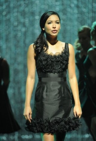 Glee: Naya Rivera in una scena dell'episodio Mash Off